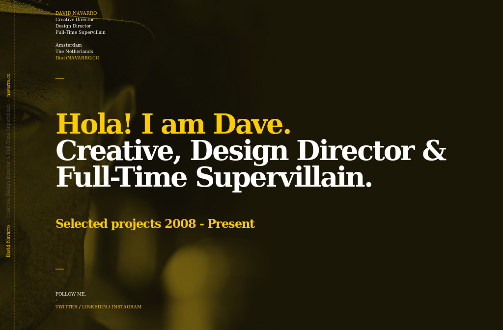 Supervillain >> David Navarro. Creative, Design Director & Full-Time ...