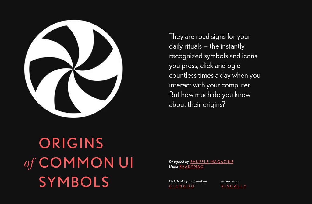 'Origins of Common UI Symbols' by Shuffle