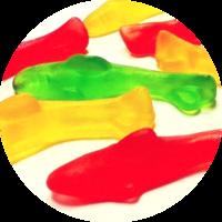 Дельфины микс (дыня,яблоко,клубника)