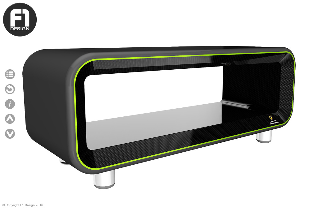 F1 Design Lamborghini Cubis Carbon Fiber Coffee Table