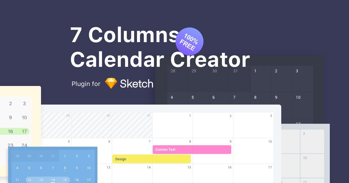 7 Columns Calendar