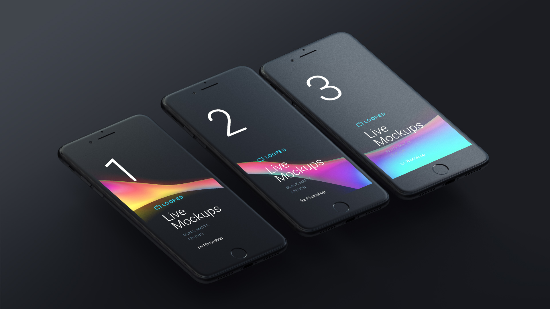 Free Black Matte Apple Devices Mockups For Personal And