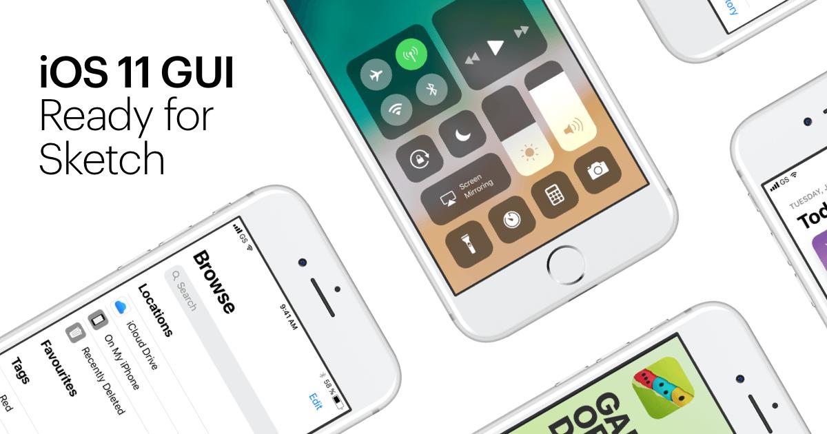 iOS 11 GUI Design Kit