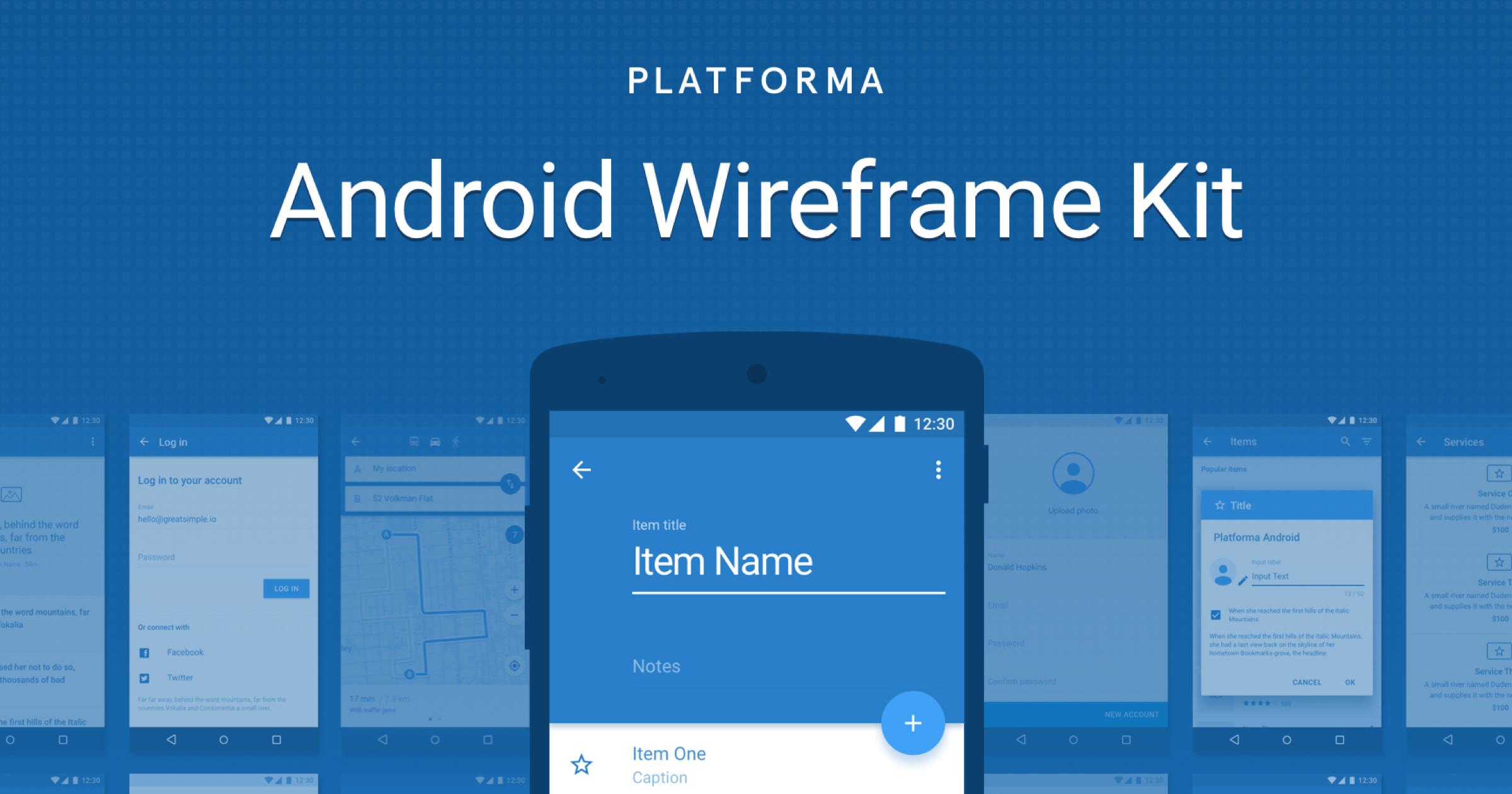 Platforma Web Wireframe Kit