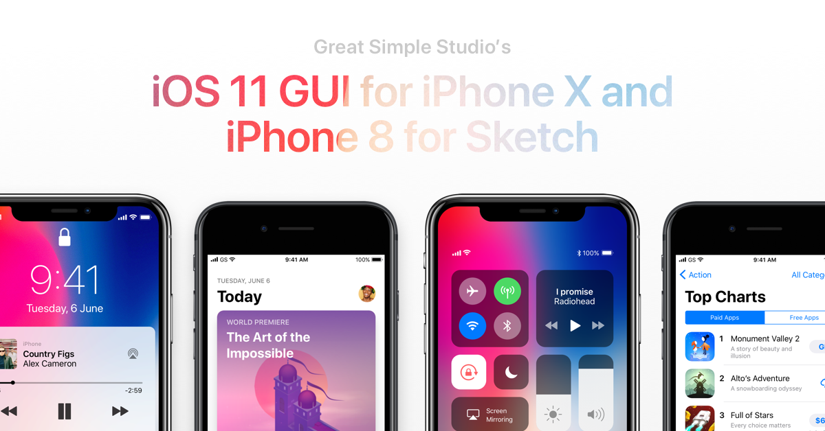 iOS Design Kit - Free iOS 11 GUI for Sketch