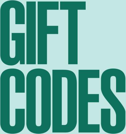 Gift codes